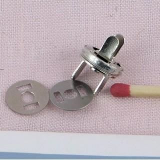 Pression aimantée, fermeture magnétique 10 mm.