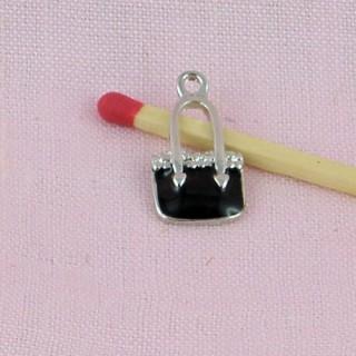 Breloque Sac à main métal émaillé