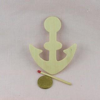 Ancre Bateau pirate bois décoration enfant 8 cm.