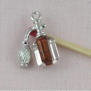 Vaporisateur miniature poupée, breloque métal 2,2 cm, 23 mm.