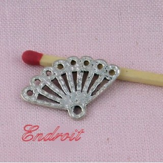 Breloque Eventail pendentif éventail miniature poupée