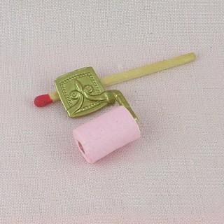 Enrouleur papier toilette miniature poupée, .