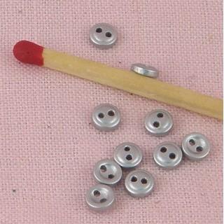 Boutons minuscules argentés 4 mm.