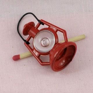 Lampe àpétrole miniature, lanterne poupée, lampe tempête Barbie.