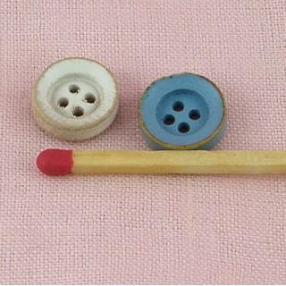Bouton rond bois couleur 11 mm.