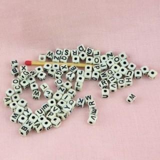 Sachet 104 Perles alphabet 5 mm