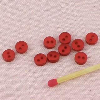 Boutons mercerie petits habits poupée 6 mm