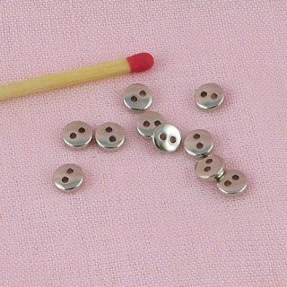 Boutons mercerie métal mini 5 mm