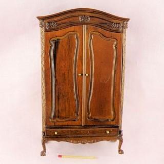 Armoire Lorraine miniature meuble maison poupée bois