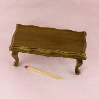 Table basse longue salon maison poupée,