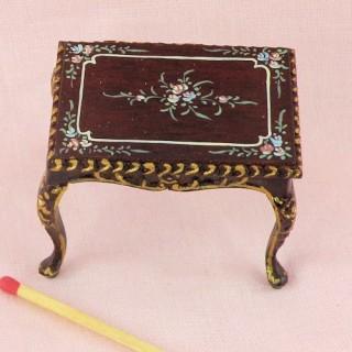 Table a ouvrage miniature maison poupée