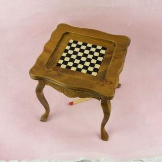 Table jeu échecs miniature maison poupée