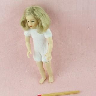 Poupée enfant articulée 1/12 miniature maison