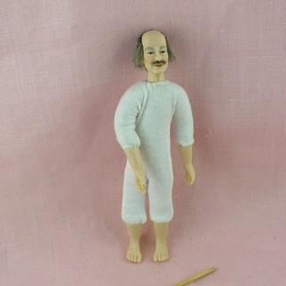 Poupée miniature 1/12 vieil homme Heidi Ott