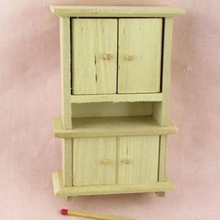 Buffet miniature cuisine maison poupée