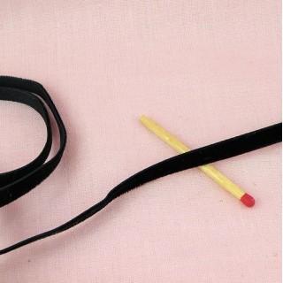 Ruban velours 7 mm noir