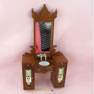 Vasque dentiste miniature 1/12 maison poupée..