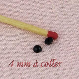 Yeux peluche àcoller 4 mm