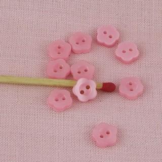 Boutons forme fleur nacrés