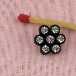 Bouton bottine à pied métal 10 mm, 1 cm.
