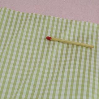 Tissu Soie pure à carreaux tissé teint au mètre