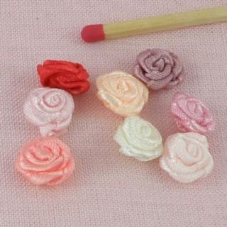 Roses  ruban minuscule à coudre
