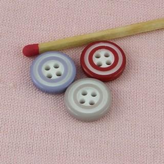 Bouton bicolore 1 cm.