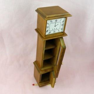 Horloge grand-père de parquet miniature maison poupée