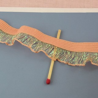 Ruban volanté plissé froufrou irisé 17 mm.