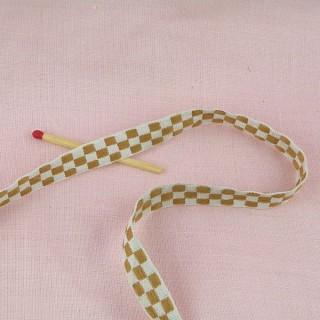 Galon coton brodé 1 cm.