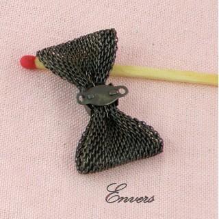 Noeud métal tressé, décoration,  breloque, charms 3,3 cm.