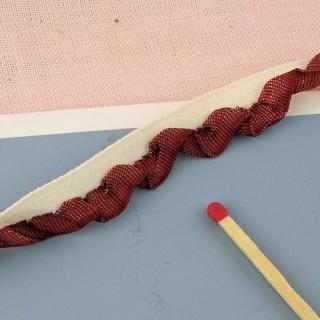 Ruban volant plissé élastique 1 cm.