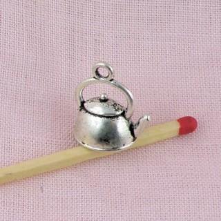 Bouilloire miniature métal breloque