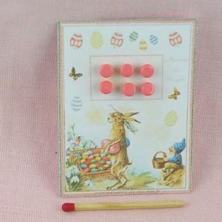 Carte minis boutons rétro Pâques