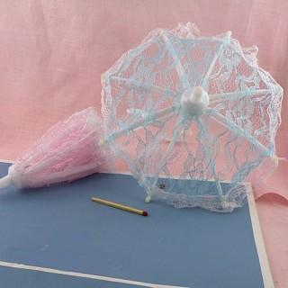 Parapluie ombrelle poupée ouvre et ferme 15 cm