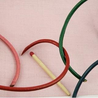 Cordon lacet pur cuir au mètre 3 mm.