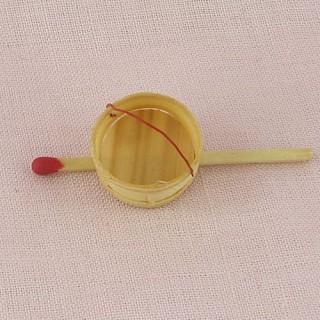 Panier minuscule miniature maison poupée 1 cm,