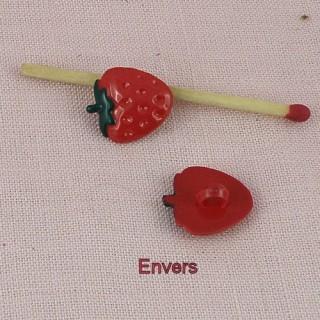 Bouton fraise fruit àpied