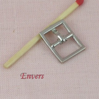 Boucle métal miniature ceinture poupée 17 mm.