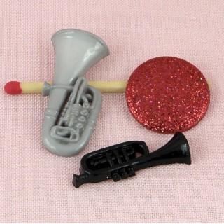 Boutons  MUSIQUE instruments