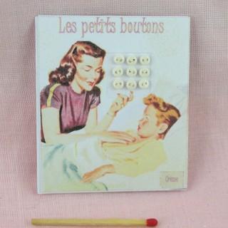 Carte boutons rétro 4 mm