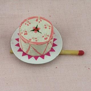Gâteau anniversaire miniature maison poupée