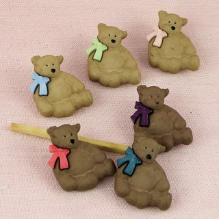 Bouton ours peluche ourson nounours.