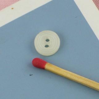 Bouton mercerie rond motif carré 9 mm