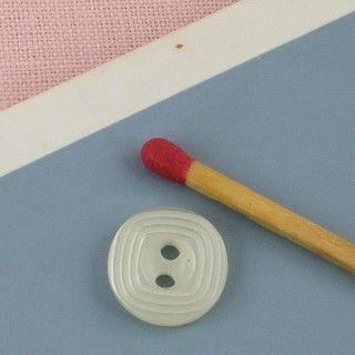 Bouton rond motif carré 12 mm.