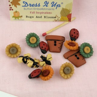 Bouton insectes miniatures Dress it up