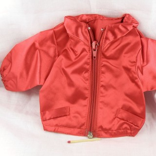 Red satin jacket 18 inches doll