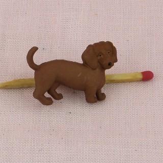 Bouton chien Basset Teckel.