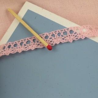 Vintage fine cotton lace ribbon 1 cm, 10 mm