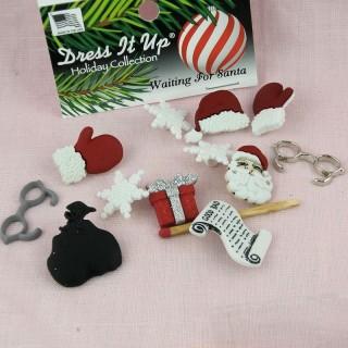 Boutons liste cadeaux Noël  Dress it up